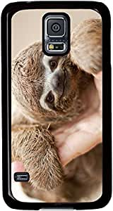 Sloth-Nice-Smile Cases for Samsung Galaxy S5 I9600 with Black sides