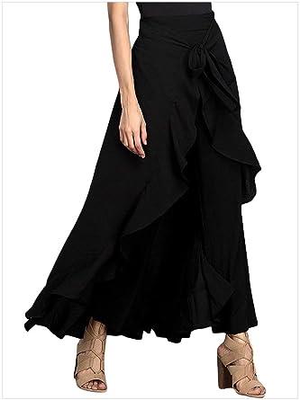 Hangang Faldas Largas de Las Mujeres Falda Larga Falda Plisada de ...