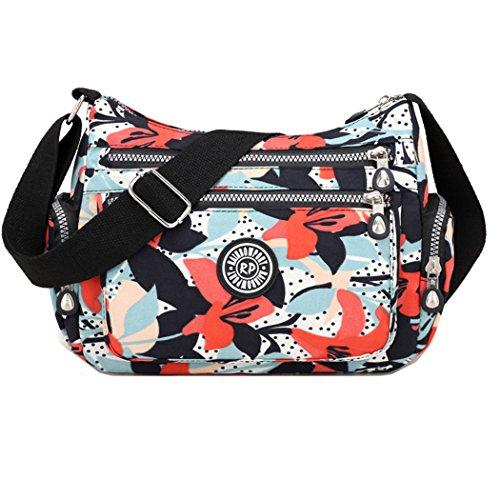 Body du Gloire matin Bag l'eau en occasionnel Cross imperméable Sac à Bag bandoulière Femmes Messenger nylon à Zwq676