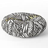 Society6 Pardon My French Gold On Black Floor Pillow Round 26'' x 26''