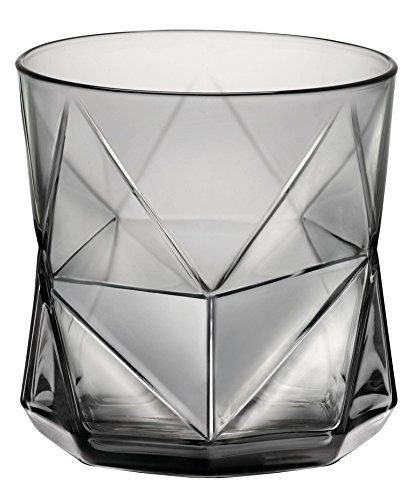 Bormioli Rocco Cassiopea Rocks Glass, Onyx, 11.25 oz., Set of 4 , Gray Review