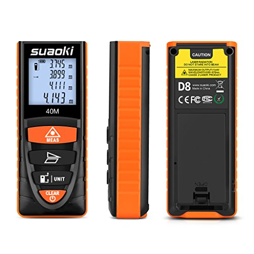 Electronic Distance Measuring Device : Suaoki digital laser tape measure ft measuring device