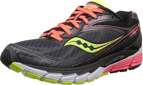 Saucony Women's Ride 8 Running Shoe, Mid/Coral/Citron, 6 M US