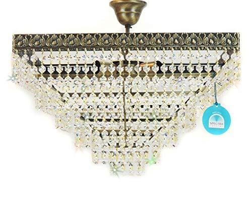 Cristal Lámpara de Techo Mosca Ø45cm Antiguo Fabricado con ...