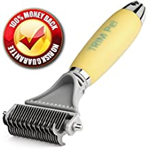Dog Mat Remover Comb; Dematting Tool, Detangler & Deshedding Rake for Easy Undercoat Grooming; Large & Small Dogs, Puppy, Short & Longhaired Pets