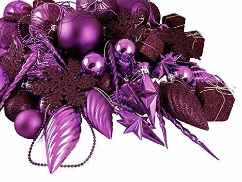 Vickerman 125-Piece Ornament Set, Purple