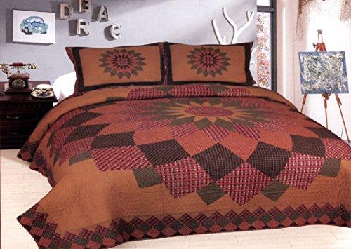 American Hometex Alexandra Dahlia Queen Quilt Set (Dahlia Quilt)