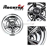 """RockFox High Gloss Chromed 8"""" SS Golf Cart Wheel Covers,Tremendous Improvement and Top Selling 5 Spoke Design and Durability Hub Caps for Most Golf Carts. Set of 4."""