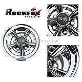"RockFox High Gloss Chromed 8"" SS Golf Cart Wheel Covers,Tremendous Improvement and Top"