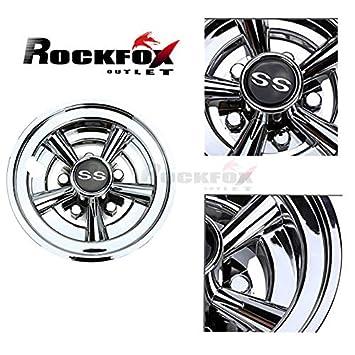 RockFox - Tapacubos de Cromo Brillante para Carrito de Golf, 20 cm, diseño de