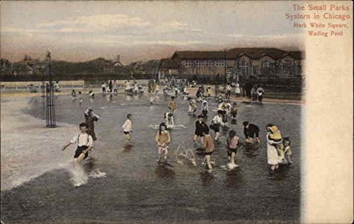 (The Small Parks Sysstern, Mark White Square, Wading Pool Chicago, Illinois Original Vintage Postcard)