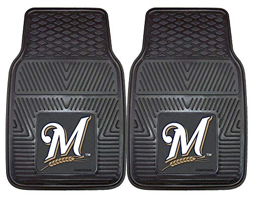 Heavy Duty Vinyl Car Mats - Set of 2 - Milwaukee Brewers