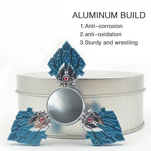 Fidget Spinner LETOUR Blue Warrior New EDC Aluminum Gyroscope Ultra Durable Alloy