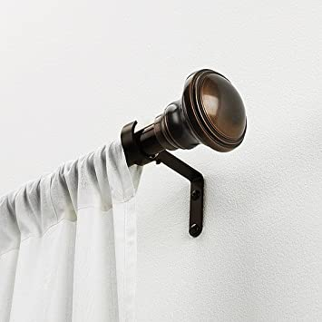 Amazon.com: Better Homes and Gardens Curtain Rod Set, Bronze, 1 ...