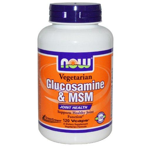Foods Vegetarian Glucosamine - NOW Foods - Vegetarian Glucosamine & MSM 1000 mg. - 120 Capsules