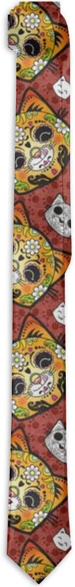 Corbata formal de seda Calavera Día de los Muertos, accesorio para ...