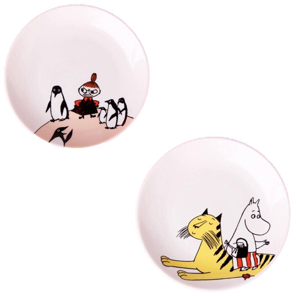 Kylin Express Set Of 2 Ceramic Creative Cartoon Animal Round Dishes Chicken Dishes,White
