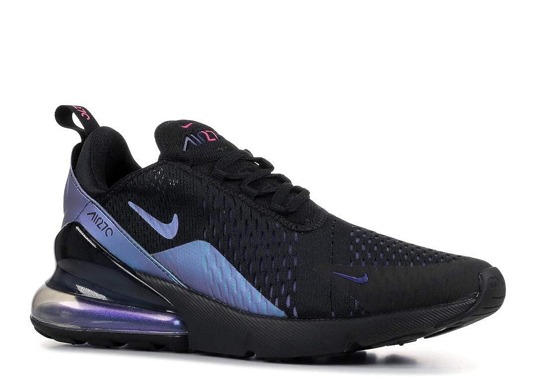 Nike Men's Air Max 270 BlackLaser FuchsiaRegency Purple Mesh Running Shoes 11.5 M US