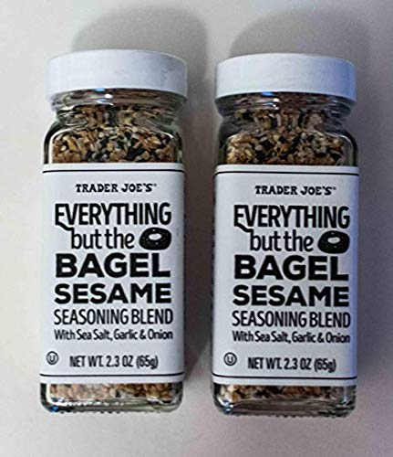 Trader Joe's Everything but The Bagel Sesame Seasoning Blend 2.3 Oz (Pack of 2) (Limited Edition)