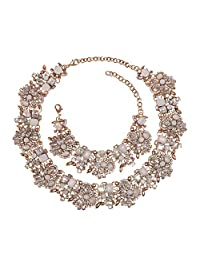 Holylove 7 Colors Vintage Choker Necklace with Rhinestone & Crystal Come with Gift Box