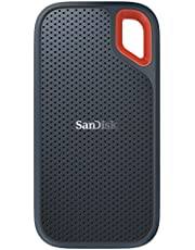 SanDisk Extreme Portable SSD 2TB E60 USB 3.1 Gen 2 (Type-C and Type-A Compatible) IP55 Rated Water and Dust Resistance SDSSDE60