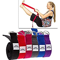 Thick Yoga Strap / Yoga Belt with Steel D Ring