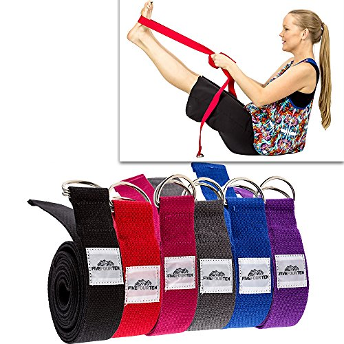 Thick Yoga Strap / Yoga Belt with Steel D Ring (8FT long). Perfect for stretching and all types of yoga including Pregnancy Yoga, Hot Yoga, Bikram Yoga, Restorative Yoga, Hatha Yoga and many more. Made with 100% Durable Cotton. Comes with a Lifetime Warra