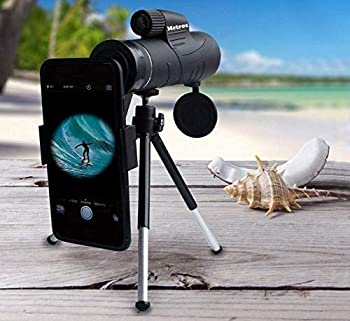 Monocular Telescope High Definition High Power Optics 10X42 Magnification Zoom with Smartphone Adapter and Tripod - Monocular for Scenery Bird Watching Camping Travelling Hunting Game Watching