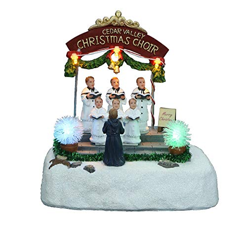 Top Treasures Snow Village LED Christmas Scene with Moving Choir | Lighted Christmas Village is a Great Perfect Addition to Your Christmas Decorations & Christmas Village Displays