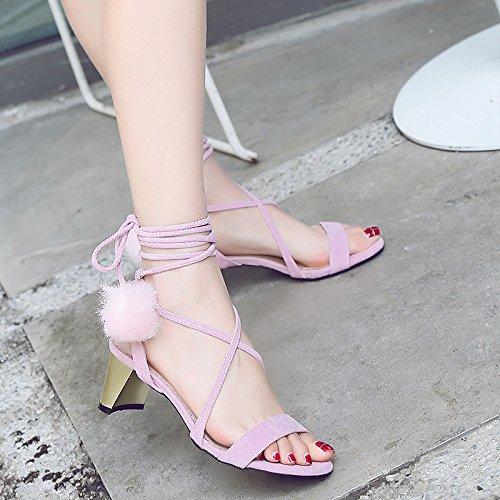 con del Sandalias Alto De Palabra De color Xia Versión Pie Apricot De Dedo Nuevo Coreana Roma Vendaje Rocío De con El Estilo Tacón Zapatos con del z1xqwxYEg