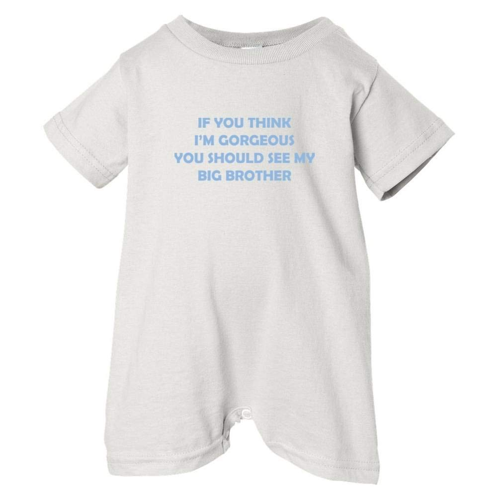 Unisex Baby Im Gorgeous See Big Brother T-Shirt Romper So Relative