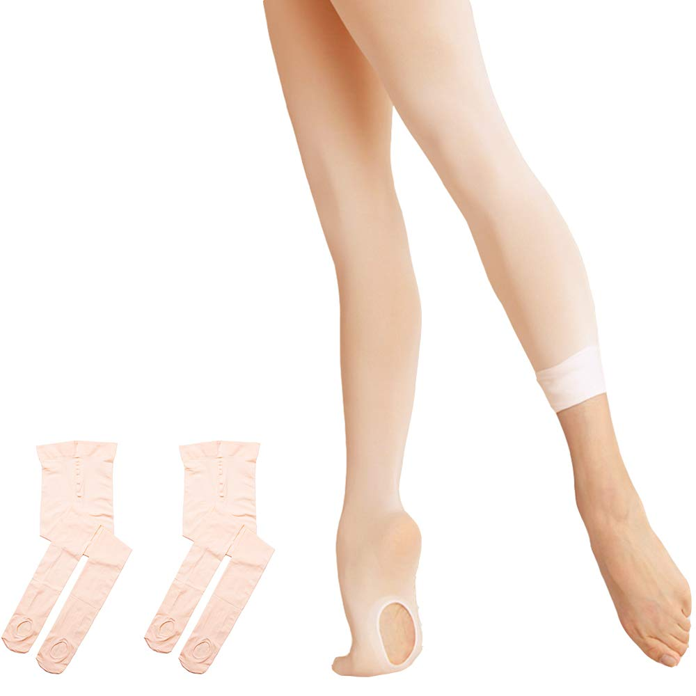 6773bfd5081ef Ballet Tights Ultra Soft Transition Convertible Dance Tights for Girls  product image