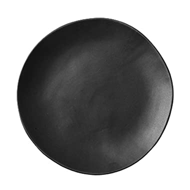 SOCOSY Creative Irregular Matte Ceramic Dinner Plate/Dessert Plate/Appetizer Plate/Salad Dish/Steak Plate/Service Plate for Party Kitchen - 7 Inches