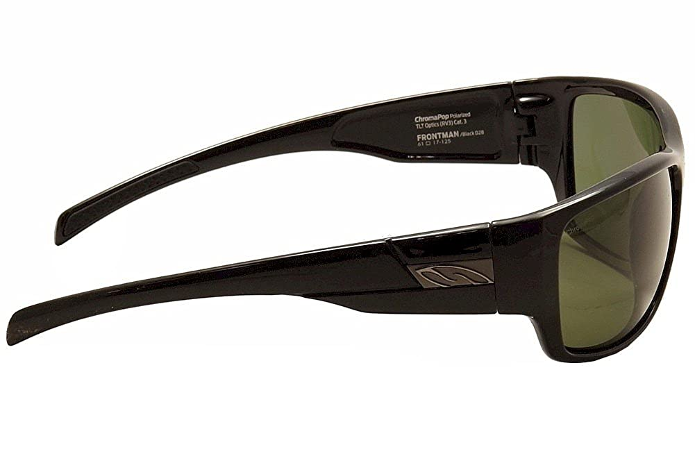 d870d2200f0 Amazon.com  Smith Frontman Sunglasses - Polarized ChromaPop Black Gray  Green