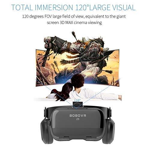 bobovr Z5 Update Bobo VR Z5 120 FOV 3D Carton Helmet Virtual Reality Glasses Headset Stereo Box for 4.7-6.2 Mobile Phone