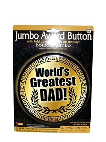 Forum Novelties 80225 Jumbo Button-World Greatest Dad Party Supplies, Multicolor
