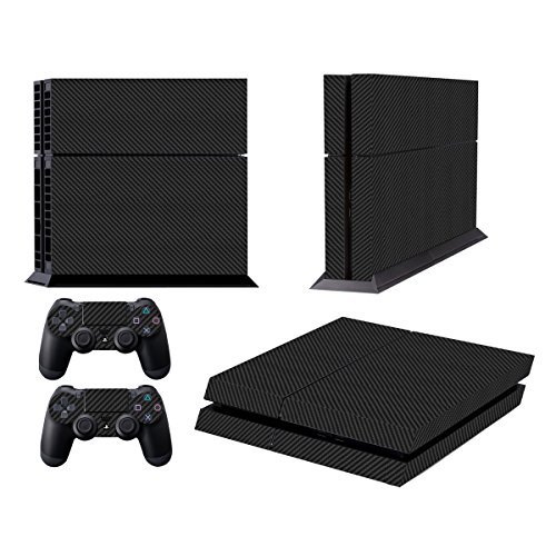 Skins for PS4 Controller - Decals for Playstation 4 Games - Stickers Cover for PS4 Console Sony Playstation Four Accessories PS4 Faceplate with Dualshock 4 Two Controllers Skin - Carbon (Cover Skin Carbon)