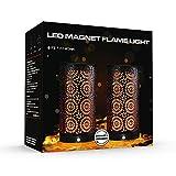LED Flame Effect Fire Lights - Black Magnetic