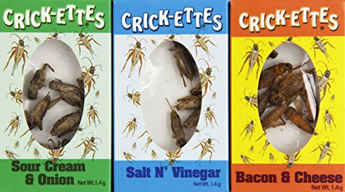 Crick-ettes Sampler Gift Pack- Sour Cream and Onion, Bacon and Cheese, Salt and Vinegar-Pack of 3 -