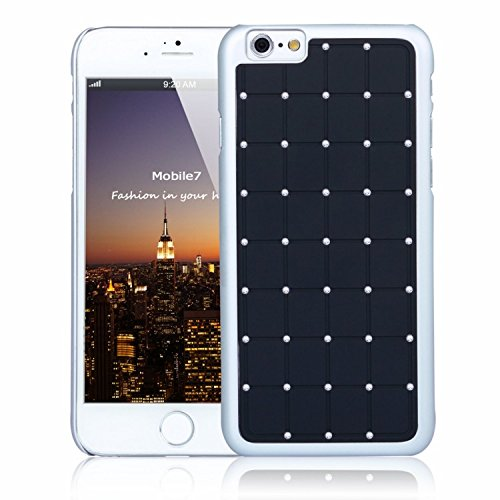 Posh Style Apple Iphone 6 LUXURY CRYSTAL Cross Diamond Black Case Bling Hard Cover with White Frame For Apple Iphone 6 By G4GADGET®