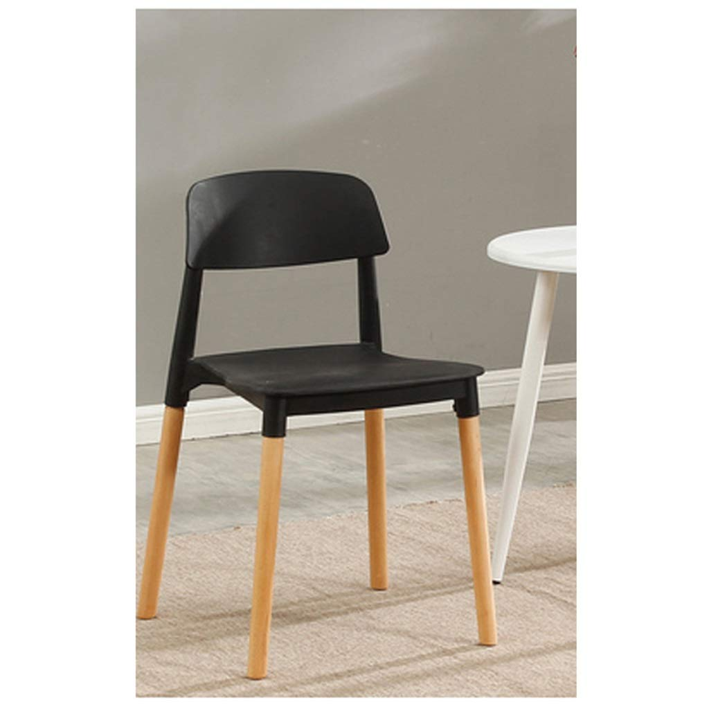 H YJWOZ Dining Chair Plastic White Chair Household Adult Backrest Chair Chair Multi-color Optional 43×43×77cm Chair (color   E)