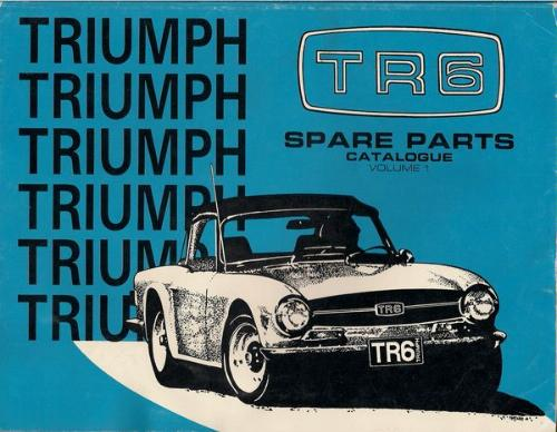 Triumph Tr6 Sports Car Spare Parts Catalogue And Engineering