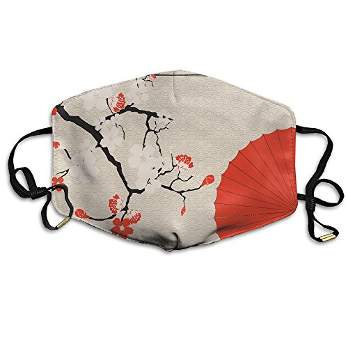 BGHER Japanese Umbrella And Japanese Cherry Mens & Womens Unisex Comfortabl Anti-dust Masks by BGHER