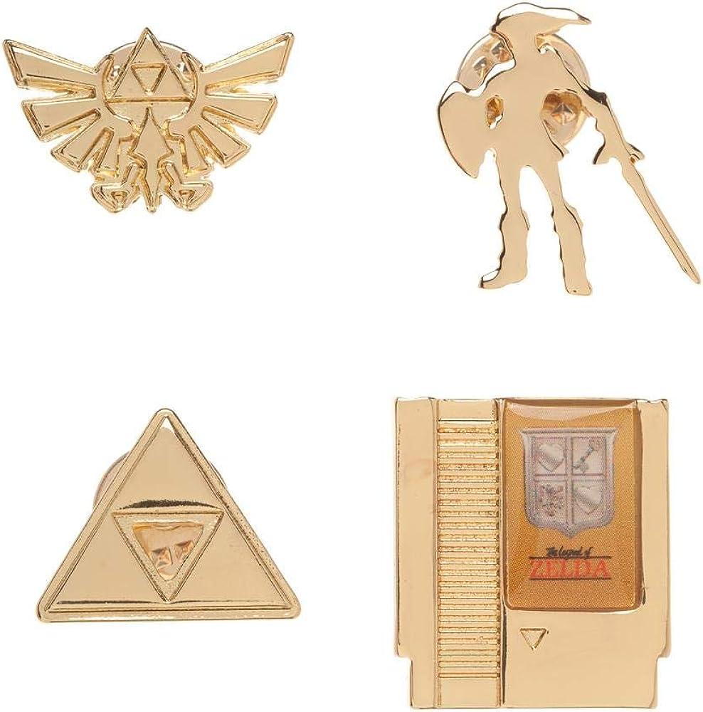 Nintendo Lapel Pin 4-Pack Legend of Zelda Pins: Amazon.es: Ropa y accesorios