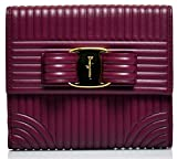Salvatore Ferragamo Women's Sqaure Quilted Vara Bow Wallet (One Size, Vin)