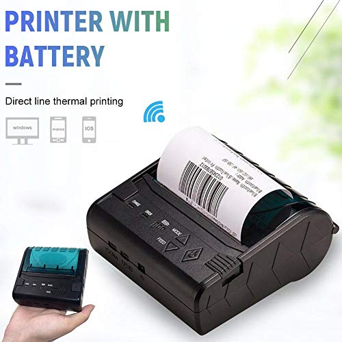 80MM Thermal Printer Support Windows Bluetooth and USB Black 7 Android and 1 IOS Wireless by Oshide (Image #4)