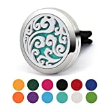 round heat register covers - 38MM Bigger Aromatherapy Car Essential Oil Diffuser, COOHAA Perfect Idea for Auto Aroma Pendant Stainless Steel Locket With Vent Clip For Aromatherapy