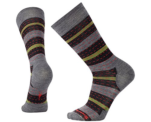 Smartwool Men's Premium Omano Crew Socks (Medium Gray Heather) Large