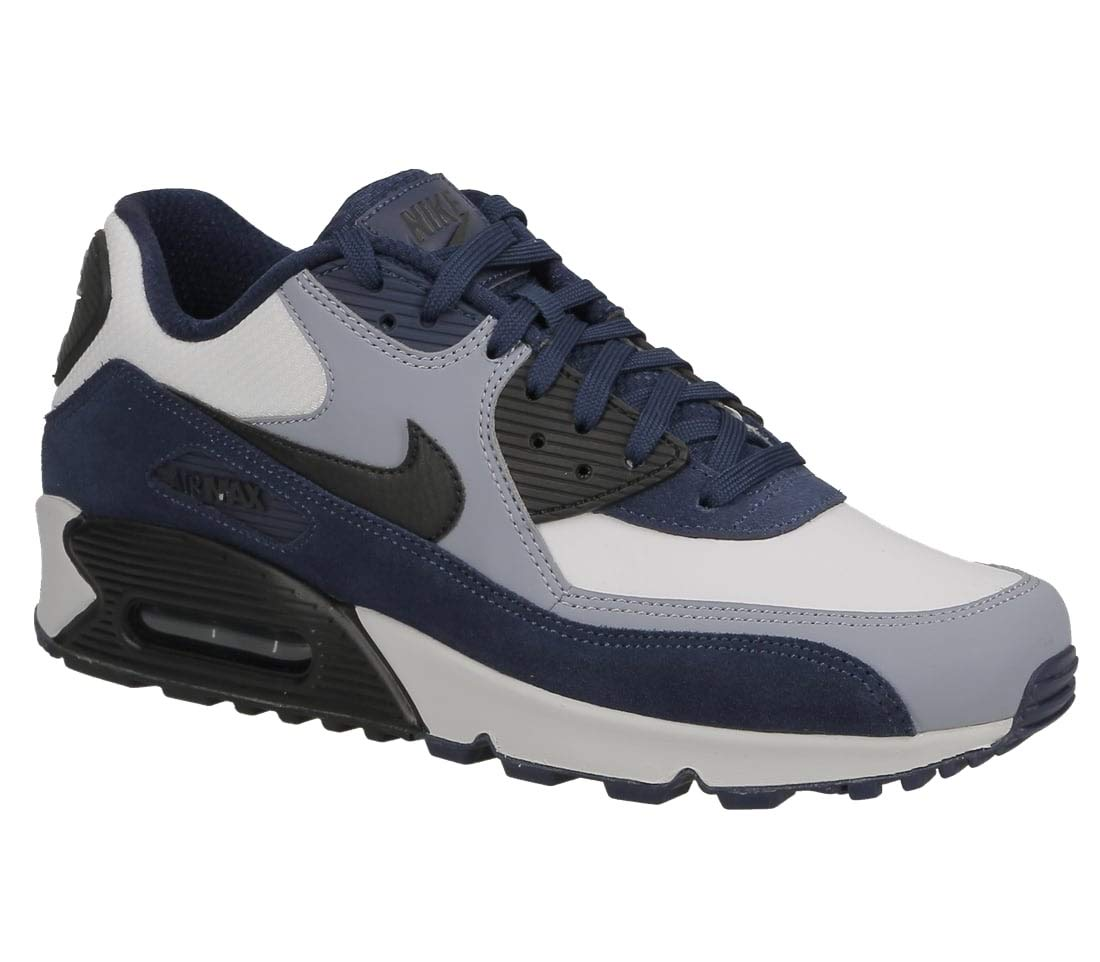 promo code 53436 2d117 Nike Mens Air Max 90 Leather Running Shoes Blue Void/Black/Ashen Slate  302519-400 Size 13