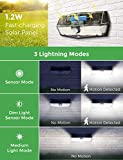 LITOM 200 LED Solar Lights Outdoor, 3 Optional